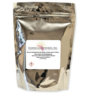 5 Lb. Pure Organic Citric Acid Food Grade FCC/USP Granular Anhydrous NON-GMO