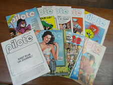 10 x Revue PILOTE vintage Nos 30 33 34 39 40 53 63 64 65 69  (1977-1980)