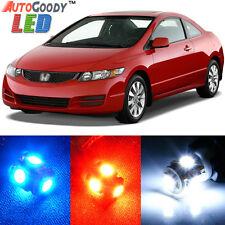 8 x Premium Xenon White LED Light Interior Package Kit for Honda Civic 2006-2012