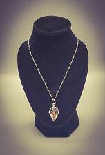 """PROTECTION"" ORGONE ENERGY PENDANT Crystal Gem Elixir Herkimer Diamond Necklace"