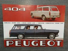 CATALOGUE BROCHURE PROSPEKT PEUGEOT 404 DE 1965