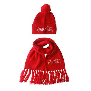 Child Coca Cola Hat and Scarf Set-050185