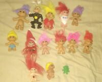 Lot of 15 Vintage Trolls - Includes : Russ  Ace ACME & TNT