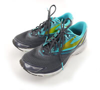 Brooks Launch 4 Women's Sz 10 B Running Shoes Gray Teal Lime Green Lace-up