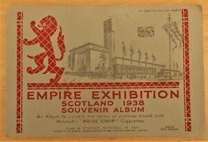"""Set 25 Mitchell's """"Empire Exhibition, Scotland"""" Cigarette Cards 1938 in Album"""