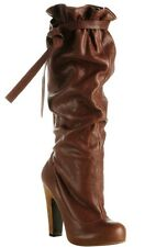 MARC JACOBS SEXY SLOUCH LEATHER Long BOOTS ITALY SIZE 38.5 8.5 Cognac Color $790