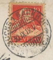 SCHWEIZ BUCHS 1 BAHNHOF / (ST.GALLEN) K2 1919 AK Buchs Schloss Werdenberg 1919