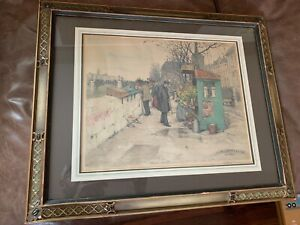 Tavik Frantisek T F Simon Paris Original Colour Etching Signed Seal Stamp