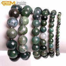 "Unisex Lot Natural Gemstones Beaded Healing Reiki Stretchy Bracelet Bangle 7"""