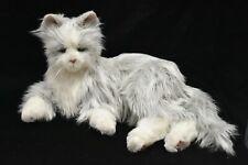Joy for All Companion Cat Silver Gray Fur White Paw Interactive Kitty Hasbro