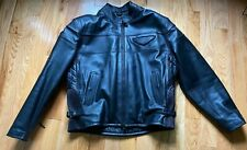 Harley Davidson Men's Competition II leather jacket 2XL w zip-out liner $579 ret