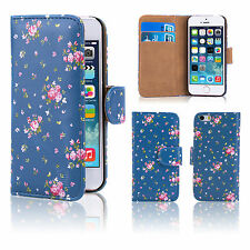 32nd Floral Series - Design PU Leather Book Wallet Case Cover for Apple iPhone