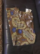 Men's Scotch & Soda Jean Surfer Hawaiian Beach Brown Theme Multi Floral 33x32