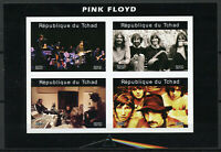 Chad 2019 MNH Pink Floyd 4v IMPF M/S I Music Famous Musicians Stamps