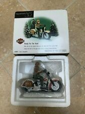 """Department 56- Christmas In the City Harley Davidson """"Ready For The Road"""" #58907"""