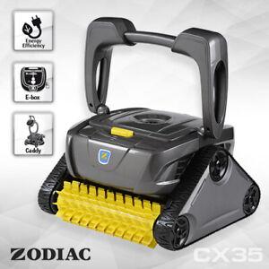 Zodiac CX35 Robotic Pool Cleaner w/Caddy & Timer. Floor, Wall, Waterline