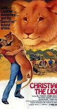 16mm CHRISTIAN THE LION-1976. Documentary feature film.