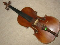 "Nicely flamed old 4/4 Violin  violon! ""Vaclav Kolak v. Caslavi"""