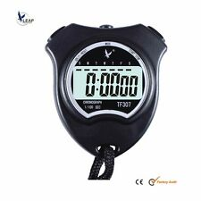 1 Row Big-digit Display 2 laps split time Stopwatch Sports Timer With Lanyard