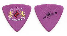 Machine Head Adam Duce Signature Coat of Arms Purple Tour Bass Guitar Pick