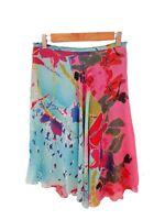 Designer Didier Parakian Size 10 Silk Asymmetrical Stunning Hues Womens Skirt