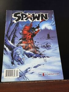 2003 SPAWN #124 rare NEWSSTAND barcode VARIANT Fine FN