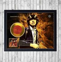 AC/DC HIGHWAY TO HELL CUADRO CON GOLD O PLATINUM CD EDICION LIMITADA. FRAMED