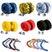 New Road Bicycle Wrap Tape Ribbon + 2 Bar Plugs Bike Handlebar Tape Cork Grips