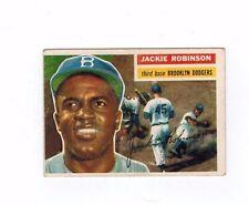 1956 Topps Jackie Robinson #30 Brooklyn Dodgers VG-EX Original NO creases