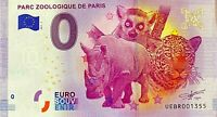 BILLET 0  EURO PARC ZOOLOGIQUE DE PARIS REV BIG BEN  FRANCE 2017 NUMERO DIVERS