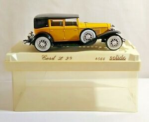SOLIDO AGE D'OR 1:43 SCALE CORD L29 - YELLOW & BLACK - #4055 - CASED