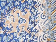 China Kesi Drachen Longpao Qing antique chinese silk gold dragon