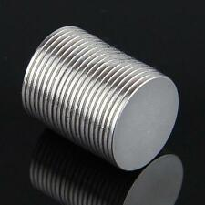 20 x Super Strong Round Magnet Disc Slice 15 mm X 1 mm Rare Earth Neodymium N50Q