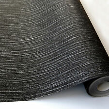 GLITZ BLACK GLITTER TEXTURED QUALITY DESIGNER LUXURY VINYL WALLPAPER A11404