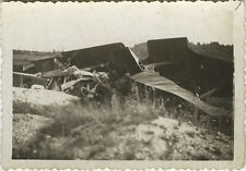 PHOTO ANCIENNE - VINTAGE SNAPSHOT - AVION ACCIDENT - PLANE CRASH