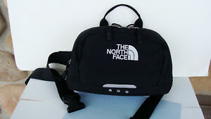 """The North Face ~ Black Fabric ~ Funny Pack Bag ~ 10.5"""" x 6.75"""" ~ Two Zip Section"""