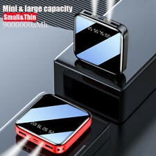 900000mAh Power Bank LCD LED Charger for Cell Phone Pack 2 USB External Portable