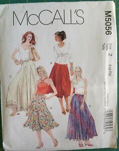 collared shirt size 14-20 women/'s dress pattern sewing pattern drawstring pants lined hat bikini top Uncut McCall/'s 3652