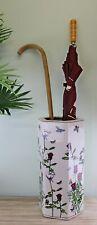 Ceramic Umbrella Stand Brolly Stick Holder Storage Flower Vase Butterfly Design