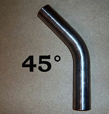 Edelstahl Bogen 70 x 2,0 mm Auspuff Bogen 45° Grad Rohr V2A gebeizt