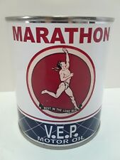 Vintage Marathon Motor Oil Can 1 qt. -  ( Reproduction Tin Collectible )