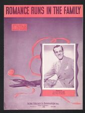Romance Runs In The Family 1939 Glenn Miller Sheet Music
