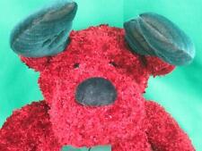 Big New Russ Christmas Reindeer Handmade Twinkle Red Sparkly Green Antlers Plush