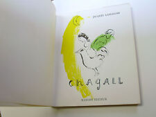 CHAGALL (Marc Chagall) by Jacques Lassaigne, Paris, 1957 with One Original Litho