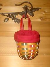 Holiday Sweets Basket Paprika Liner Protector Longaberger Snowflake New