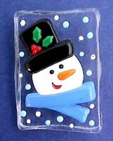 Hallmark PIN Christmas Vintage SNOWMAN Snow ICE BLOCK Holiday Brooch
