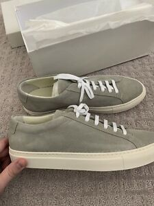 Common Projects Achilles low 42 Gray Suede  NEW in box