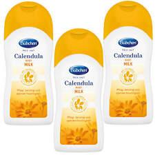 3x 200ml Bübchen Bio Calendula Milk trockene Baby Haut Schutz Pflegt beruhigt
