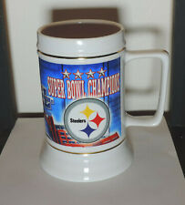 Pittsburgh Steelers Beer Mug Super Bowl Xl 40 Stein 2006 Ceramic Nfl Collectible