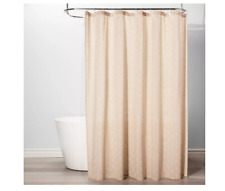 Diamond Shapes Beige Natural Shower Curtain White Feather - Threshold